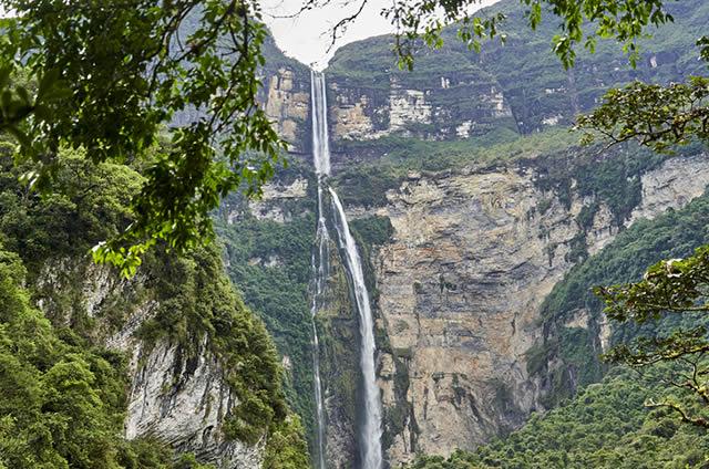 waterfall in Peru highlands